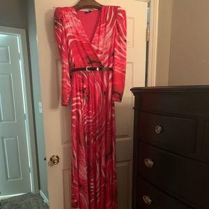 Bebe Aurora Puff Sleeve Gown